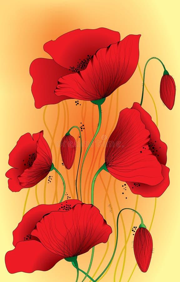 Download Poppy flowers plants stock vector. Illustration of poppy - 34327431