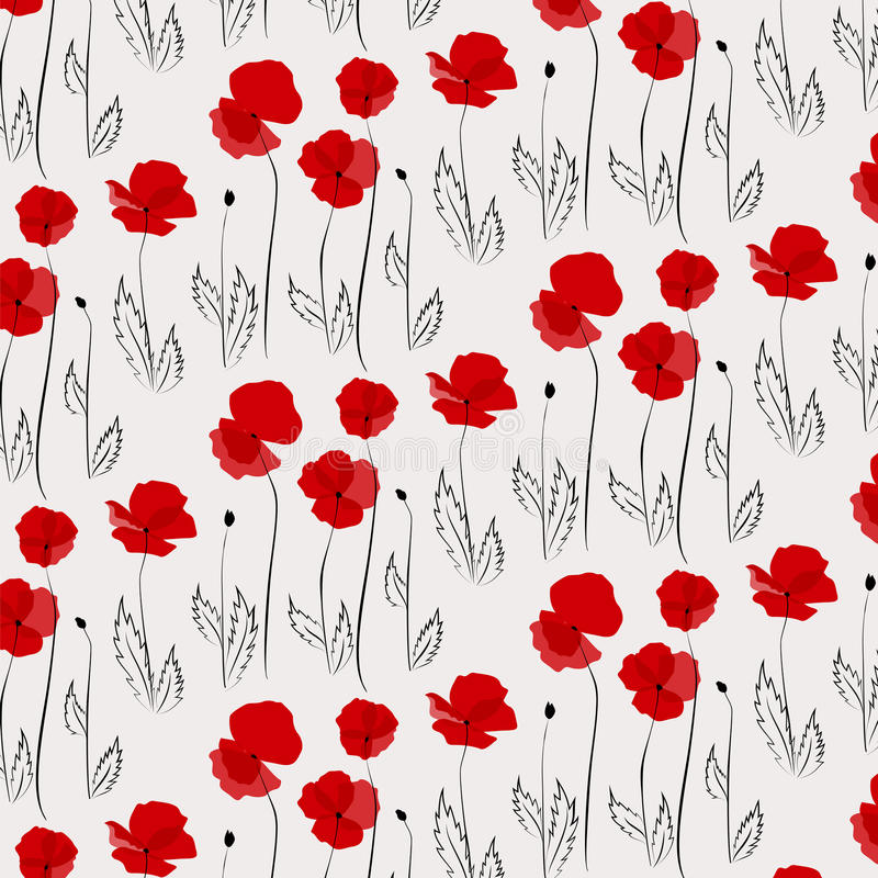 Download Poppy pattern stock vector. Image of blossom, element - 37119471