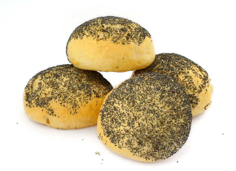 Poppy Seed Bread Rolls Stock Photography