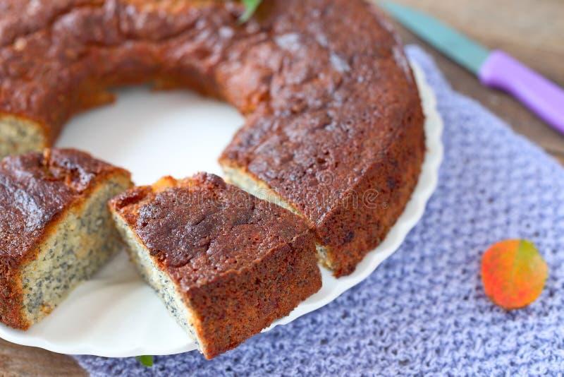 Poppy Seed Cake image stock