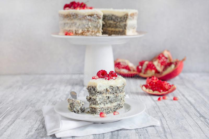 Poppy Seed Cake photographie stock libre de droits