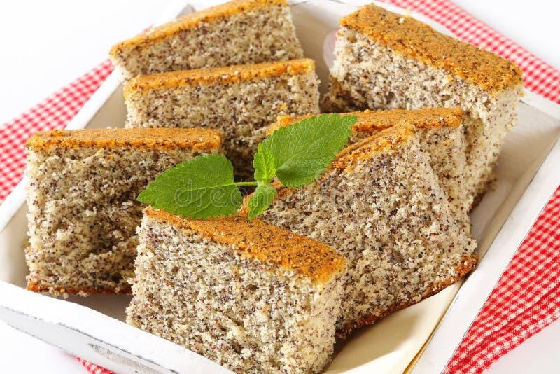 Poppy Seed Cake royalty-vrije stock foto's