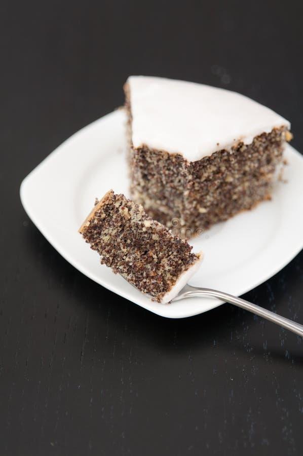 Poppy Seed Cake fotografie stock libere da diritti
