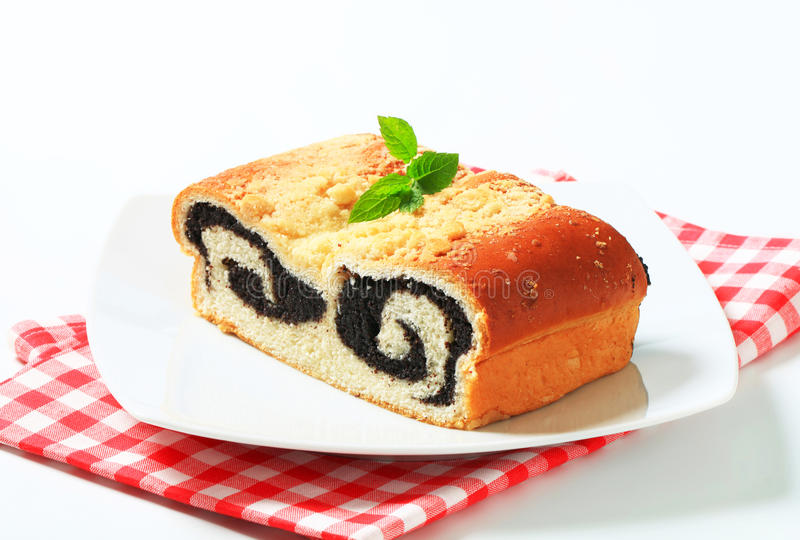 Poppy seed roll stock image
