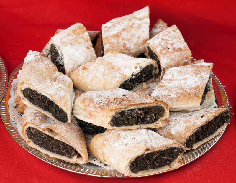 Download Poppy seed strudel stock image. Image of dessert, pastry - 26443917