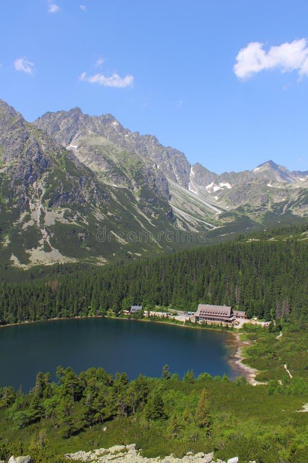Download Popradske pleso stock image. Image of cottage, lake, tourism - 33953925