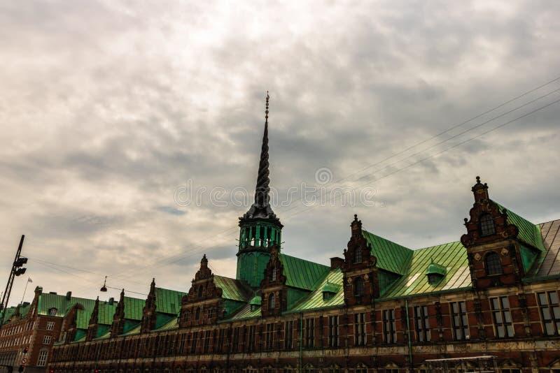 Poprzedni giełda papierów wartościowych budynek - Kopenhaga, Dani obrazy stock