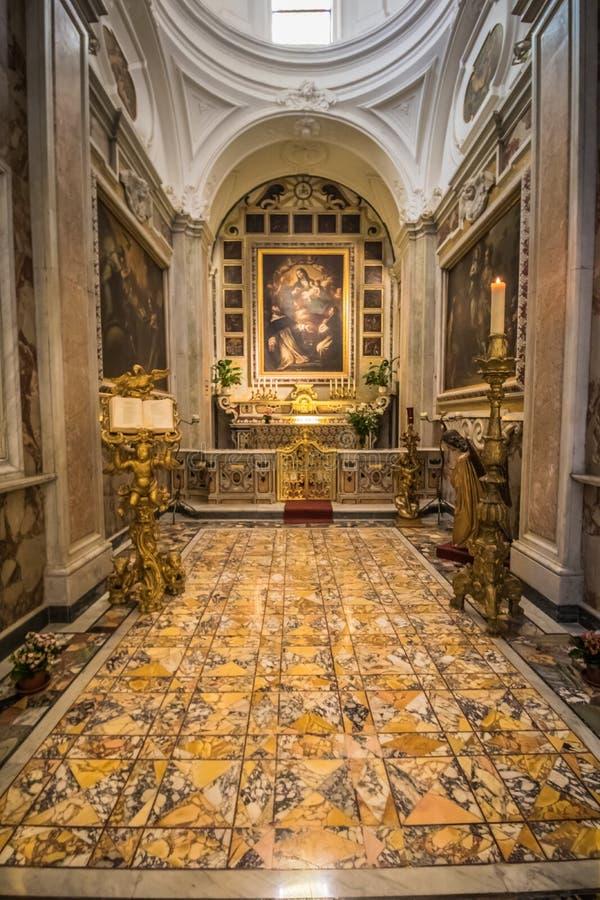 Poprzedni katedralny Santo Stefano w Capri, Włochy obraz royalty free