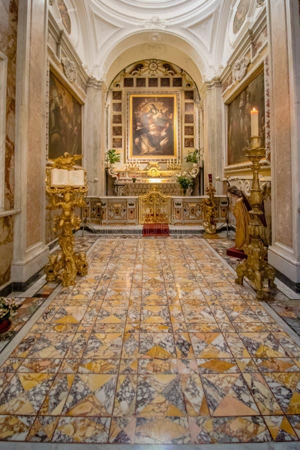 Poprzedni katedralny Santo Stefano w Capri, Włochy fotografia stock