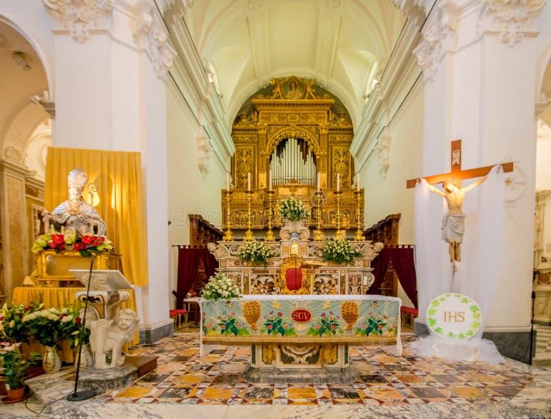 Poprzedni katedralny Santo Stefano w Capri, Włochy zdjęcie stock
