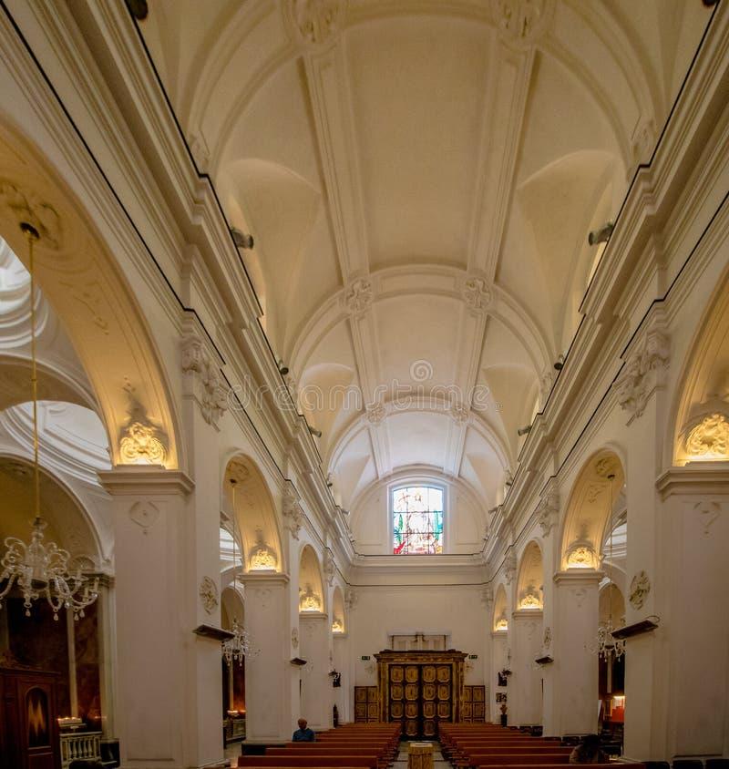 Poprzedni katedralny Santo Stefano w Capri, Włochy zdjęcie royalty free