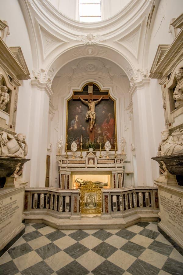 Poprzedni katedralny Santo Stefano w Capri, Włochy obraz stock