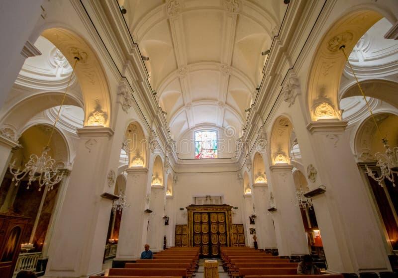 Poprzedni katedralny Santo Stefano w Capri, Włochy obrazy stock