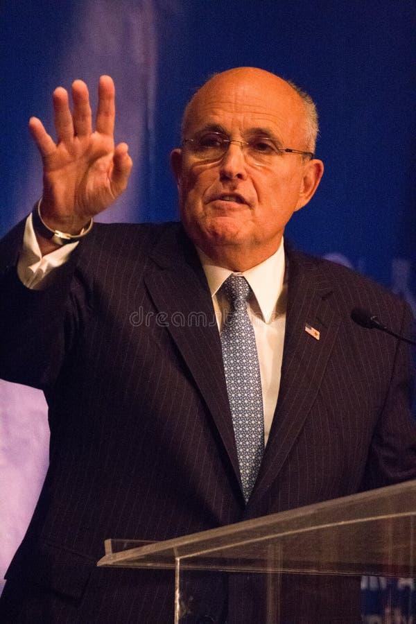 Poprzedni Miasto Nowy Jork Mayor Rudy Giuliani obrazy royalty free
