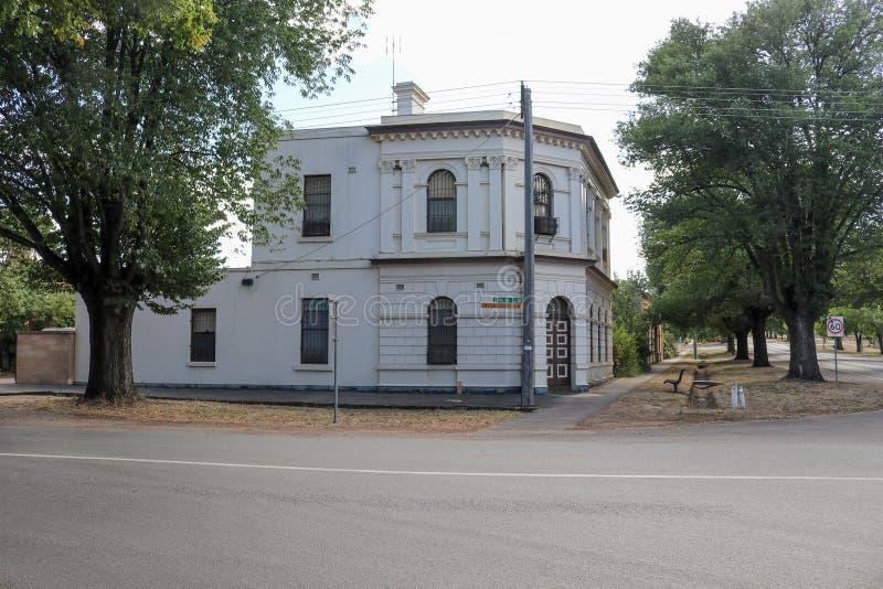 Poprzedni National Bank buduje 1887 w Lyons Australasia obrazy stock