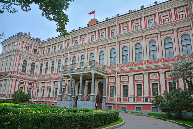 Poprzedni pałac praca w świętym Petersburg, Rosja zdjęcie stock
