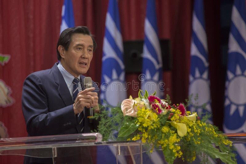 Poprzedni Tajwański prezydent Ma Ying-jeou zdjęcie stock
