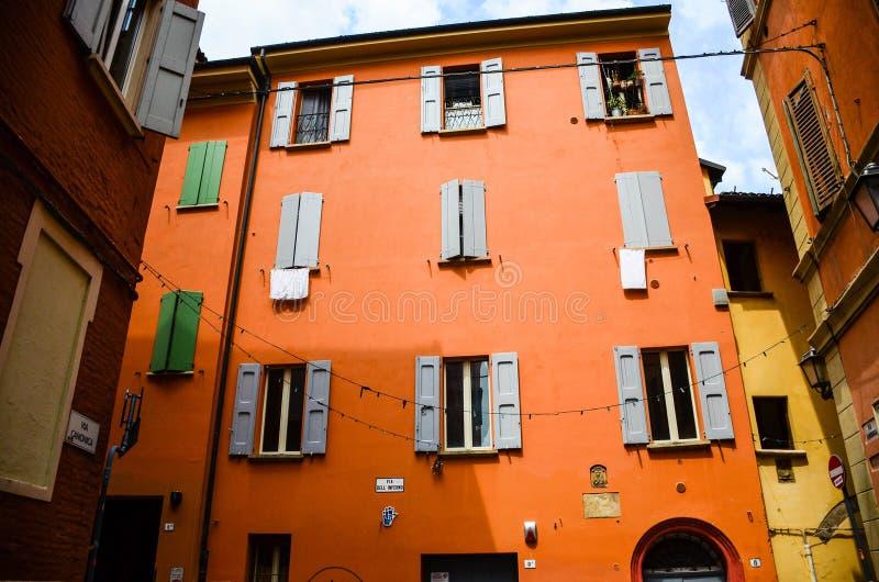 Poprzedni Żydowski getto, Bologna Włochy zdjęcia royalty free