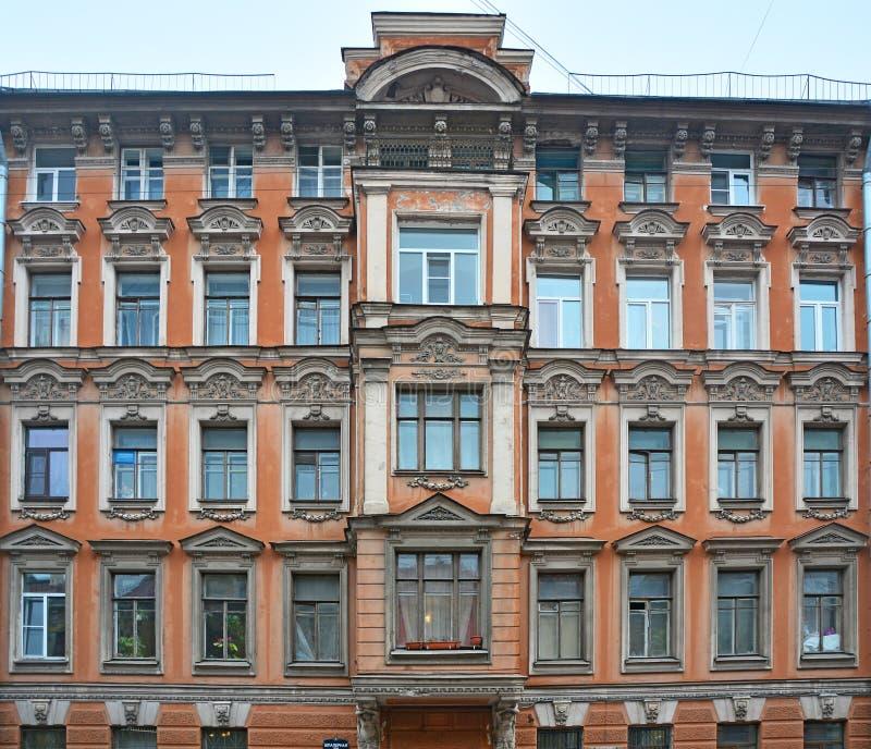 Poprzedni zyskowny dom na Schpalernaya ulicie w świętym Petersburg, Rosja fotografia stock