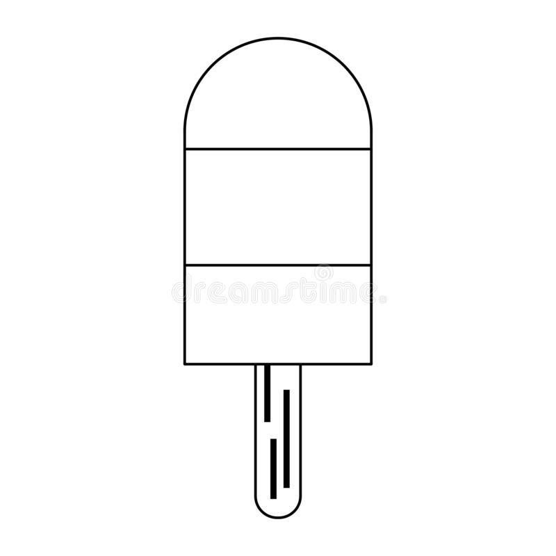 Popsicle με το ξύλινο ραβδί γραπτό διανυσματική απεικόνιση