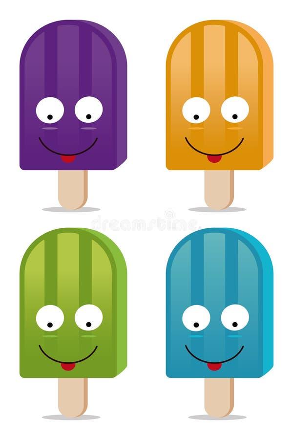 popsicle royaltyfri illustrationer