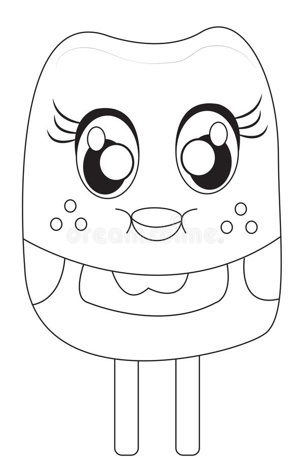 Popsicle Coloring Page Stock Illustration Image 49893068