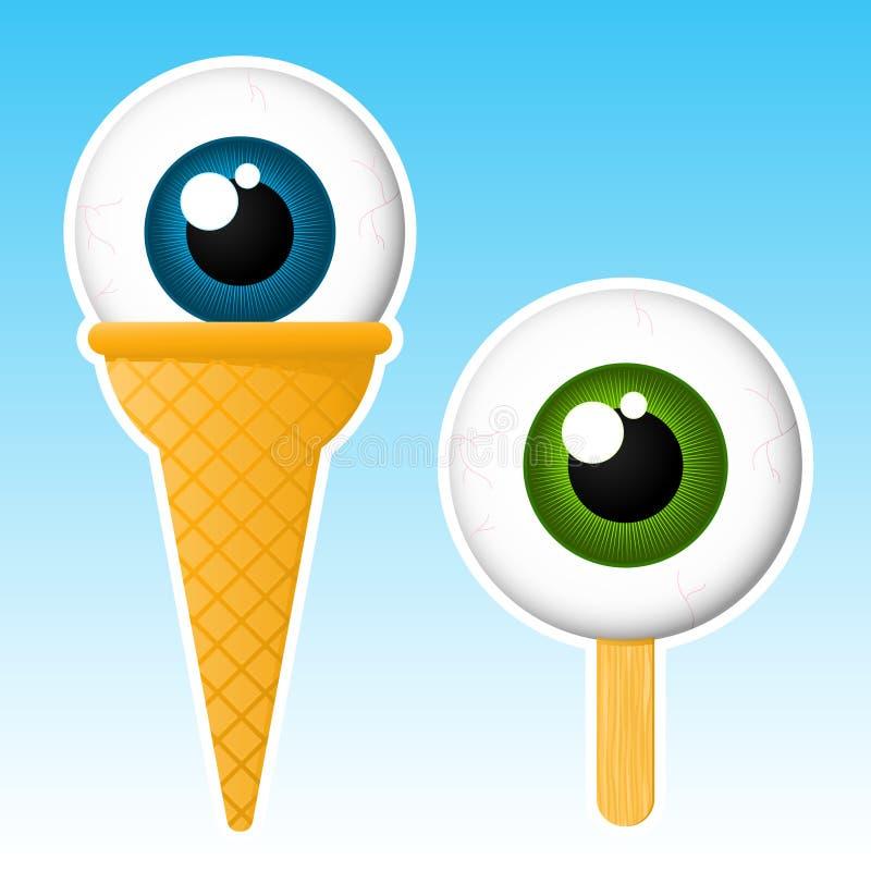 Popsicle del globo del ojo ilustración del vector