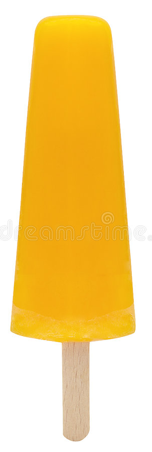 Popsicle giallo immagine stock