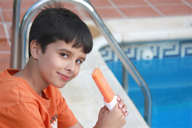 Popsicle by the Pool stock photos