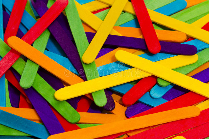 Download Popsicle Sticks Scattered stock image. Image of texture - 33854099