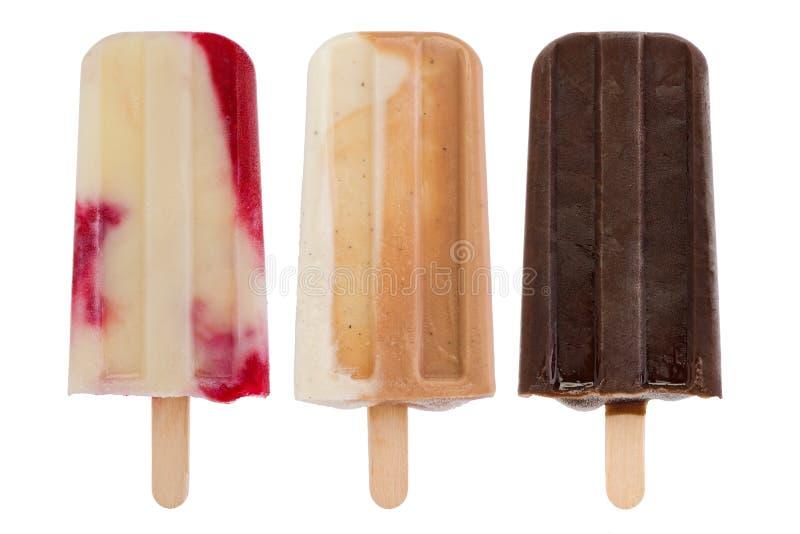 Popsicles caseiros imagem de stock