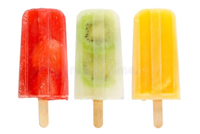 Popsicles della frutta fotografie stock libere da diritti