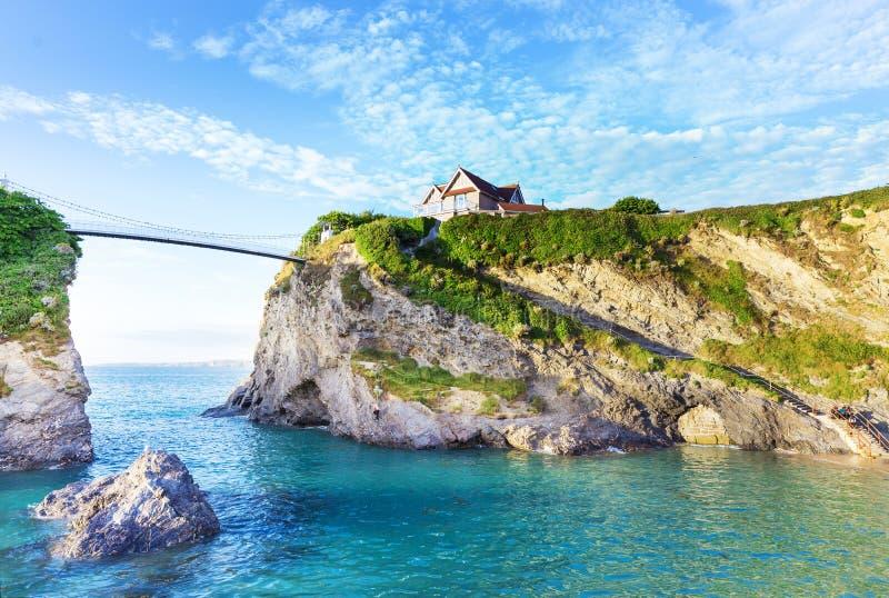 Populär Newquay Atlantic Ocean kust, Cornwall, England som förenas royaltyfri bild
