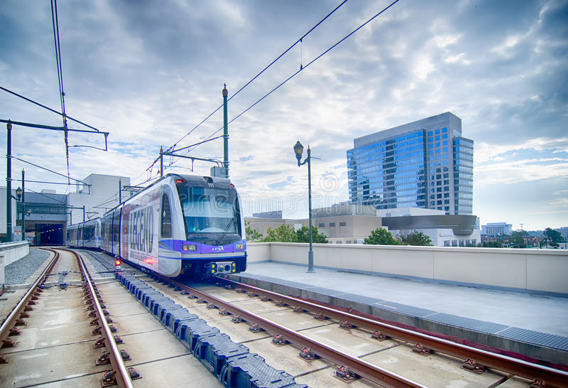 Populäre Charlotte Area Transit System lizenzfreies stockbild