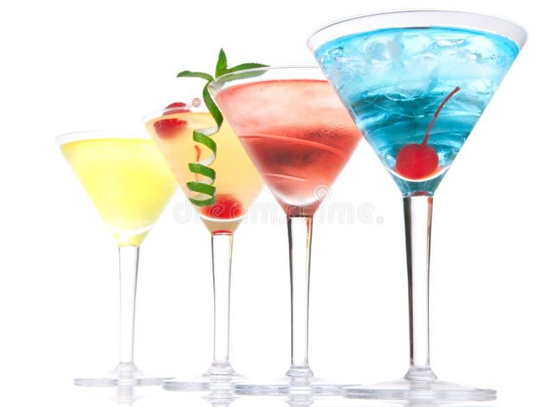 Populärer alkoholischer Cocktailaufbau stockfotografie