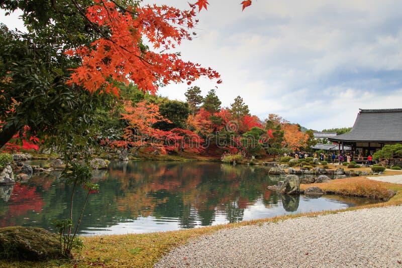Popul?rer Tenryuji-Tempel, Kyoto, Japan lizenzfreies stockbild