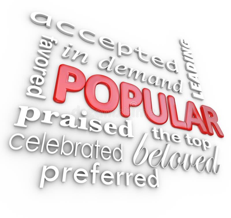 Populäres Wort am besten im Nachfrage-Favorit-Hintergrund lizenzfreie abbildung
