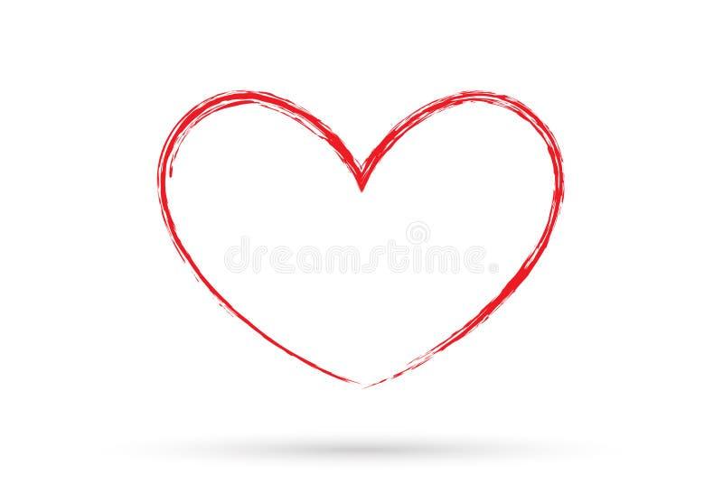 Popul?res Herzzeichnungsliebesvalentinsgru?-Zeichensymbol lokalisierte stockfotografie