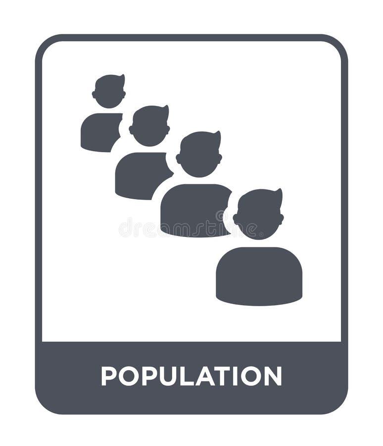 populacji ikona w modnym projekta stylu populacji ikona odizolowywająca na białym tle populacji wektorowa ikona prosta i nowożytn ilustracja wektor