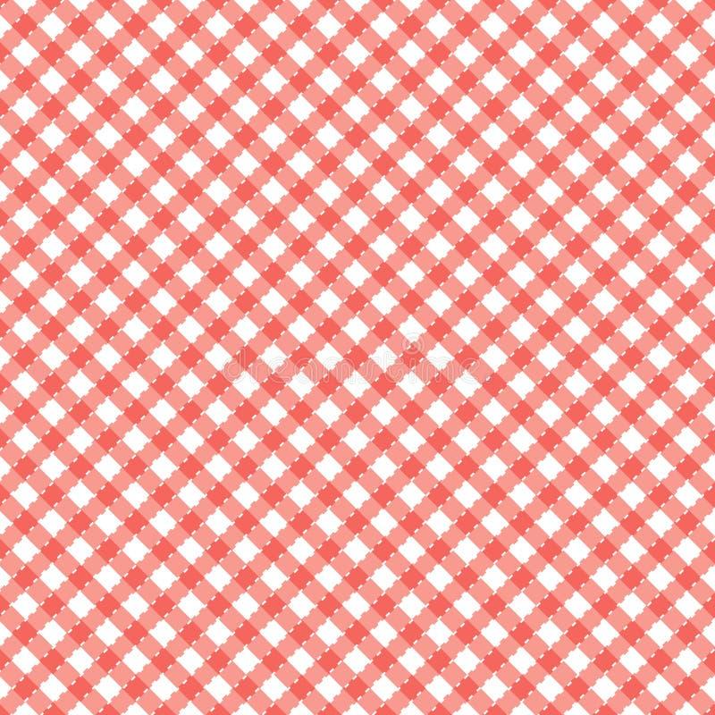 Populair patroon als achtergrond voor picknicks royalty-vrije illustratie