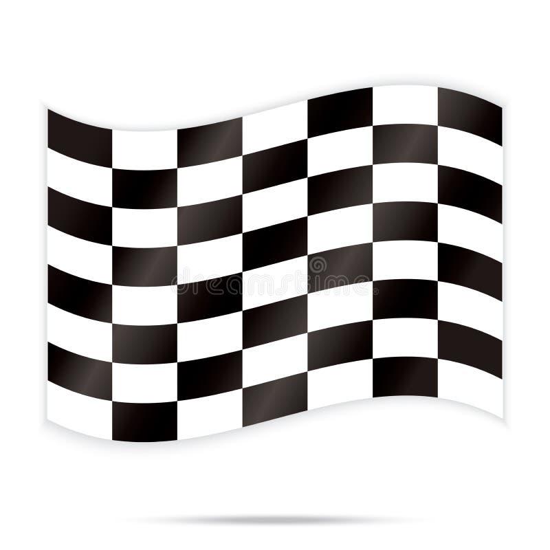 Populaire controleursschaak vierkante abstracte het rennen vector als achtergrond royalty-vrije illustratie