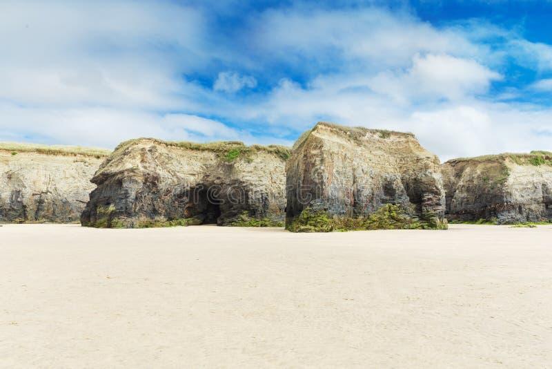 Populaire St Ives Atlantic oceaankust, Cornwall, Engeland, het UK stock fotografie