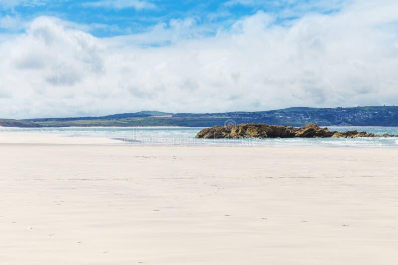 Populaire St Ives Atlantic oceaankust, Cornwall, Engeland, het UK royalty-vrije stock afbeelding