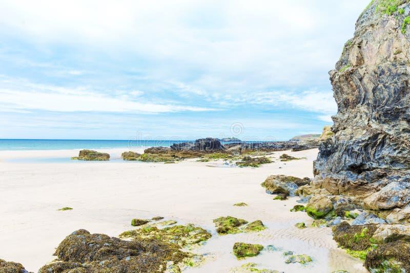 Populaire St Ives Atlantic oceaankust, Cornwall, Engeland, het UK stock afbeeldingen