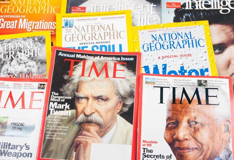 Populaire tijdschriften royalty-vrije stock afbeelding