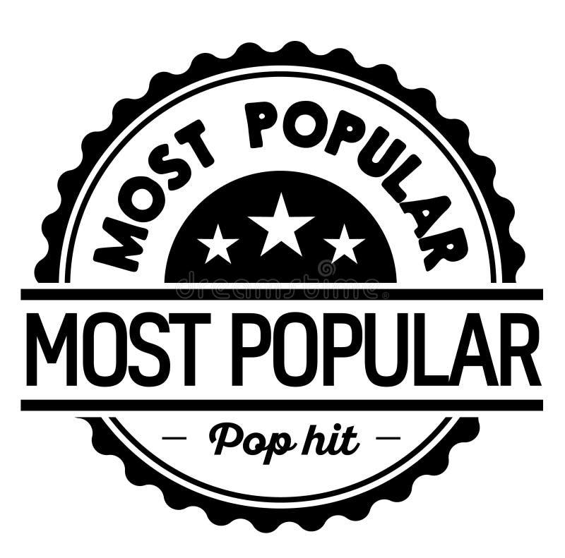 Populairste etiket op wit royalty-vrije illustratie