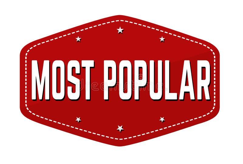 Populairste etiket of sticker royalty-vrije illustratie
