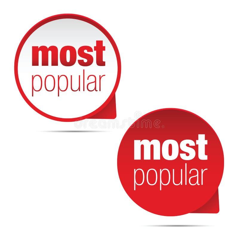 Populairste etiketteken vector illustratie