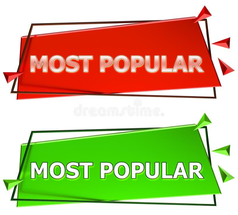 Populairste teken stock illustratie