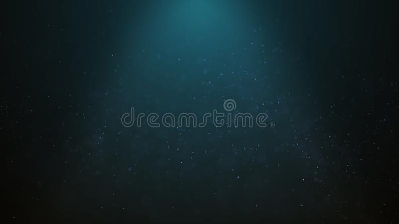 Popular Abstract background shining blue dust particles stars sparks wave 3d animation.  stock illustration